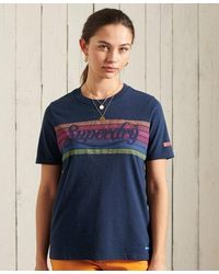 Superdry Rainbow T-shirt - Blue