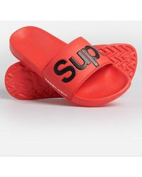 Superdry Classic Pool Sliders - Red