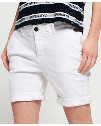 Superdry Pantalones cortos chinos City - Blanco
