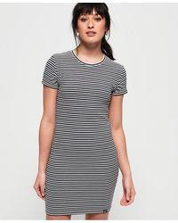 Superdry - Evie Textured T-shirt Dress - Lyst