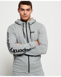 Superdry Core Sport Zip Hoodie - Gray