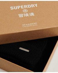 Superdry Cashmere Gift Set - Black