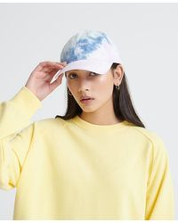 Superdry Tie-dye Baseball Cap - White