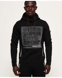 Superdry Sudadera elástica sin cierre con capucha y gráfico Gym Tech - Negro