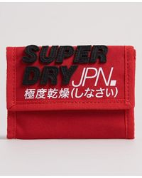 Superdry Portefeuille Montauk - Rouge