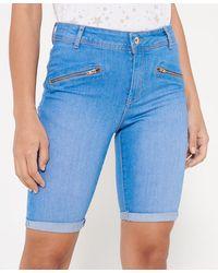 Superdry Skinny Elana Short - Blauw