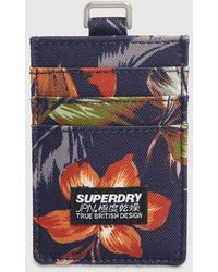Superdry Fabric Card Wallet - Blue