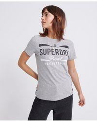Superdry Camiseta Mono Real - Gris