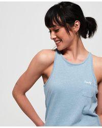 Superdry Camiseta de tirantes Orange Label Essential - Azul