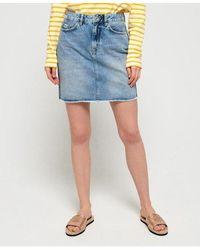 Superdry Denim Mini Skirt - Blue