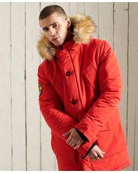 Superdry Everest Parka Coat - Red
