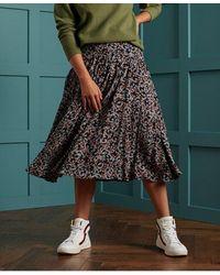 Superdry Ronda Midi Skirt - Multicolour