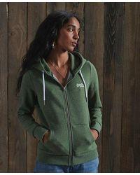 Superdry Sudadera con capucha y cremallera de la colección Orange Label - Verde