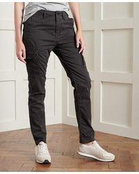 Superdry Slim Cargo Trousers - Black
