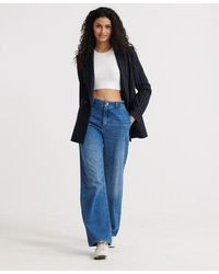 Superdry Tailored Wide Leg Jeans - Blue