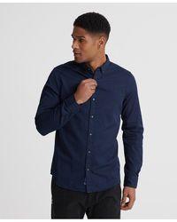 Superdry Classic Twill Lite Overhemd Met Lange Mouwen - Blauw