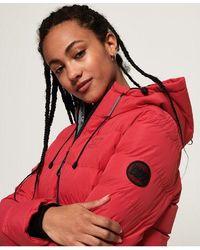 Superdry Spirit Puffer Icon Jacket - Red