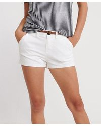 Superdry Chino Hot Shorts - White