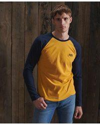 Superdry Organic Cotton Baseball Top - Yellow