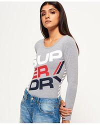 Superdry Diagonal Sportswear Bodysuit - Grey