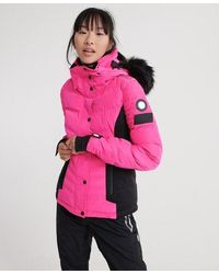 Superdry Luxe Snow Puffer Jacket - Pink