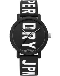Superdry Campus Fluro Block Watch - Black