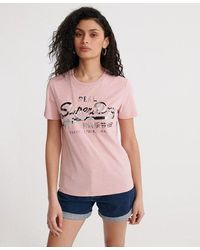 Superdry - Vintage Logo Photo Rose T-shirt - Lyst