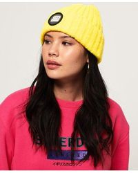Superdry Super Chunky Ribbed Beanie - Yellow