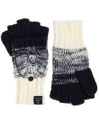 Superdry Clarrie Cable Mittens - Blue