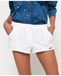 Superdry - Broderie Chino Shorts - Lyst