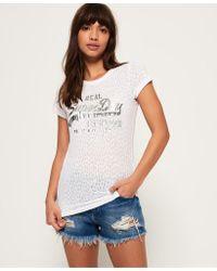 Superdry - Vintage Logo Burn Out T-shirt - Lyst