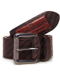Superdry Badgeman All Over Print Belt - Brown