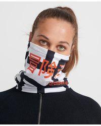 Superdry Sport Cache-col de ski imprimé - Bleu