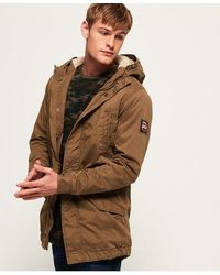Superdry Military Parka Jacket - Brown
