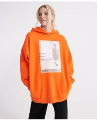 Superdry Bora Oversized Hoodie - Orange