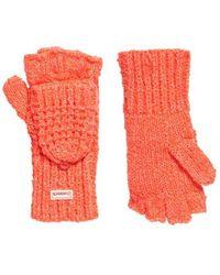 Superdry Mitones con costuras Clarrie - Naranja