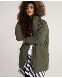 Superdry Lucy Rookie Parka Jacket - Green