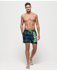 Superdry State Volley Swim Shorts - Blue