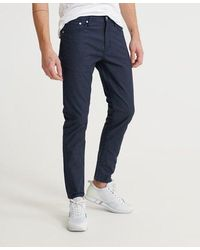 Superdry Edit Slim Double Dye Twill Jeans - Blue