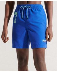 Superdry Waterpolo Swim Shorts - Blue