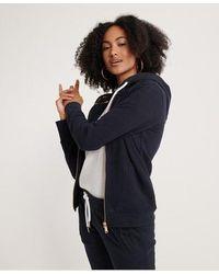 Superdry Orange Label Elite Zip Hoodie - Black
