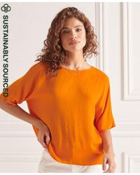 Superdry Camiseta tejida Studios - Naranja