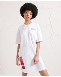 Superdry Unisex Energy Surplus Longline T-shirt - White