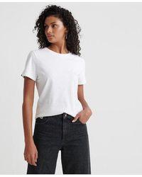 Superdry Orange Label Elite Crew Neck T-shirt - White