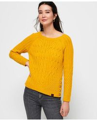 Superdry Hester Cable Knit Jumper - Yellow
