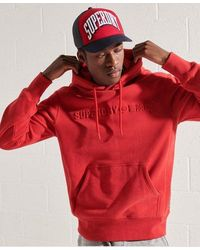 Superdry Sportstyle Embossed Hoodie - Red