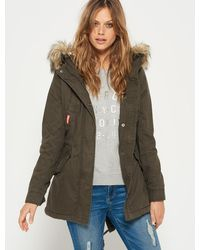 Superdry | Heavy Weather Rookie Fishtail Parka Coat | Lyst