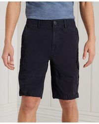 Superdry Pantalones cortos militares Parachute - Negro
