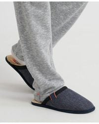Superdry Classic Mule Slippers - Blue