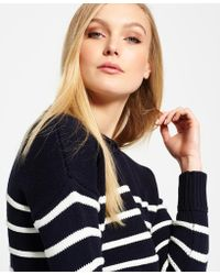 Superdry - Marine Stripe Slouch Knit Jumper - Lyst